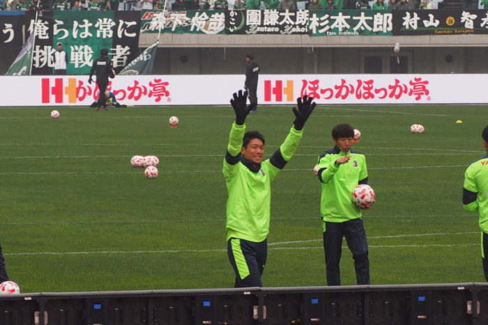 セレッソ大阪VS松本山雅試合前練習_2
