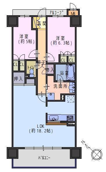 リビオ堺ステーションシティ14階部分 間取り