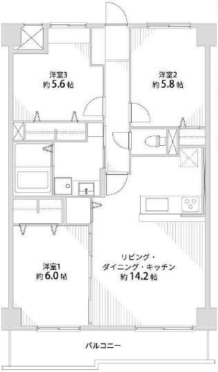 リーガル堺Ⅱ805 間取り