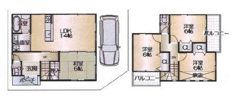 三宝町3-220-6戸建 間取り