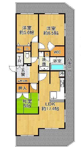 エステムコート堺東CITYLIFE9階部分 間取り