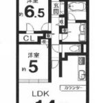 ファミール東加賀屋ウイングス12階部分 間取り