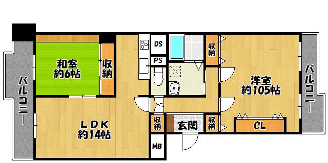 南港花のまちフローラルハイツ22号棟8階部分 間取り
