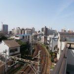 帝塚山西4戸建 ルーフバルコニーから見える線路