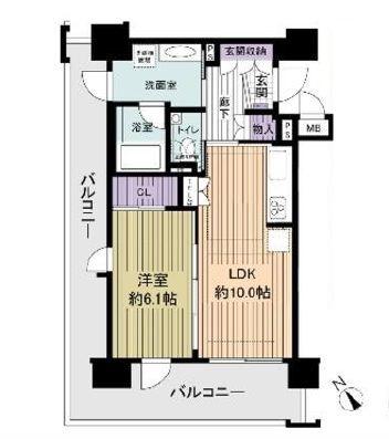 エイジングコート堺東11階部分 間取り