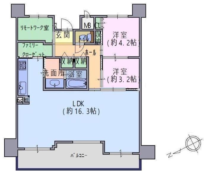 ユニ・アルス堺プレジオ8階部分 間取り