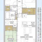 リビオ堺ステーションシティ517 間取り